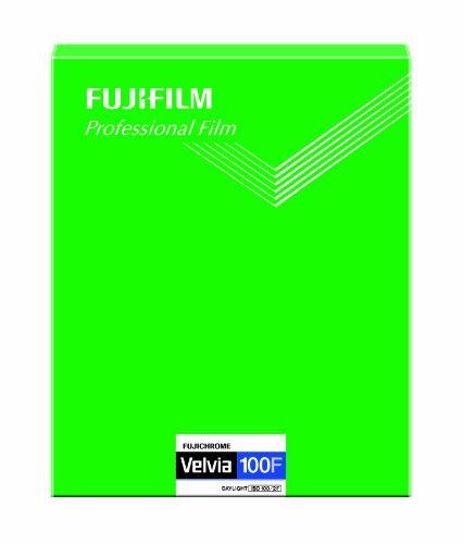 FUJIFILM リバーサルフィルム フジクローム Velvia 100F シート 20枚 CUT VELVIA100F 8X10 20
