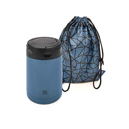 IRIS Termo para Comida, Acero Inoxidable, Azul, 0.5L