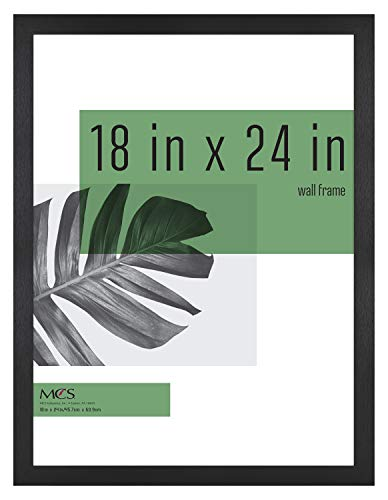 MCS Industries Studio Gallery Frames, 18x24 in, Black Woodgrain