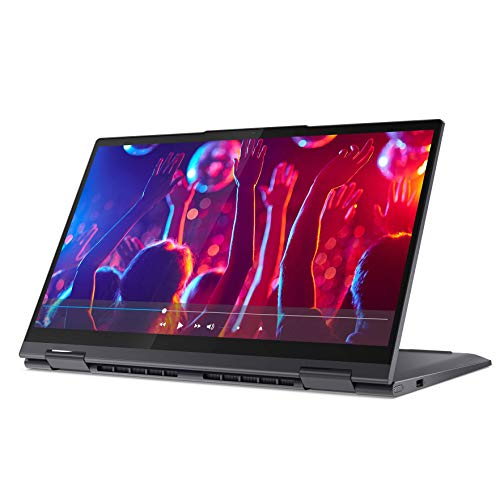 Lenovo Yoga 7i Laptop 39,6 cm (15,6 Zoll, 1920x1080, Full HD, WideView, 500nits, Touch) Convertible Notebook (Intel Core i7-1165G7, 16GB RAM, 1TB SSD, Intel Iris Xe Grafik, Windows 10 Home) grau