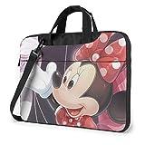 Minnie Mouse Laptop Bag Business Briefcase for Men Women, Shoulder Messenger Laptop Sleeve Case Carrying Bag- 14 Inch
