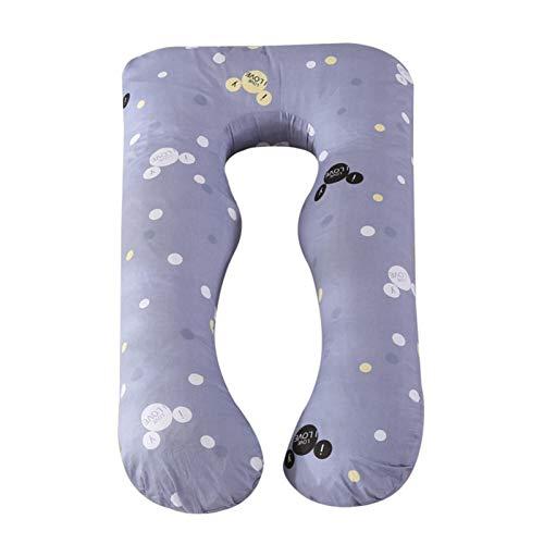 Almohada corporal para el embarazo, almohada suave para dormir de lado, almohada en forma de U para mujeres embarazadas