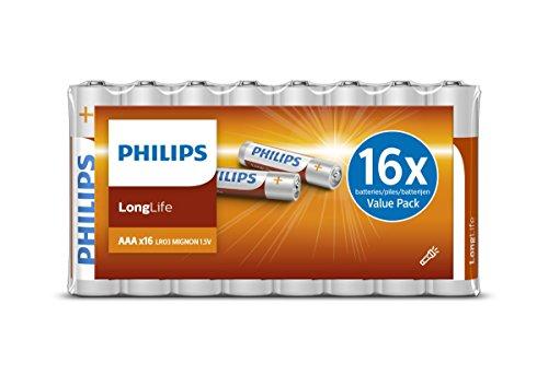 PHILIPS R03L16F10 AAA, Batterie, 16 Stück weiß
