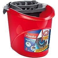 Vileda Torsion Power - Cubo superfácil, menos esfuerzo a la hora de escurrir, color rojo