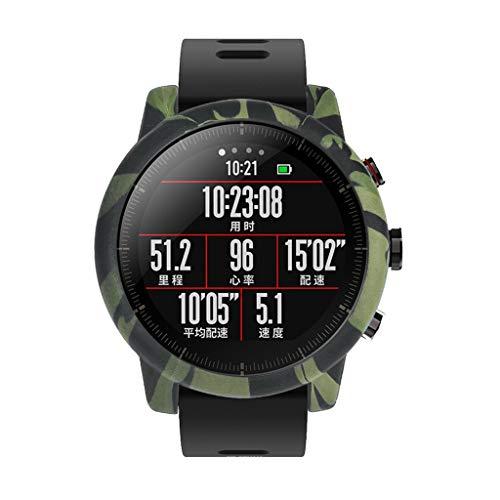 Morran Sports Smartwatch Marco Caso Cubierta Proteger Shell Moda Protector Case Funda para Xiaomi Huami AMAZFIT Stratos 2/2S Watch,Reloj Carcasa Lightweight Silicona Bumper Cover