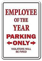従業員年駐車場事務員賞 金属板ブリキ看板警告サイン注意サイン表示パネル情報サイン金属安全サイン