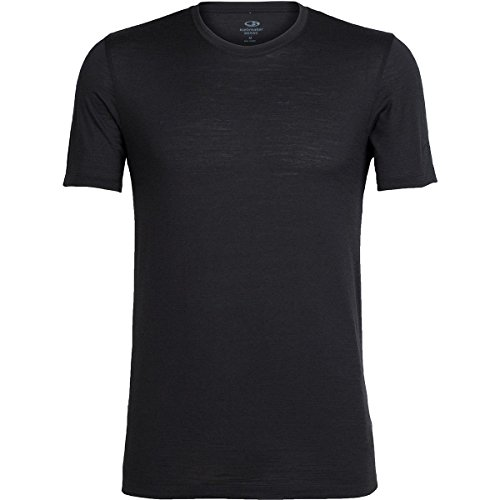 Icebreaker Tech Lite SS Crewe T-Shirt Homme, Black, FR : M (Taille Fabricant : M)