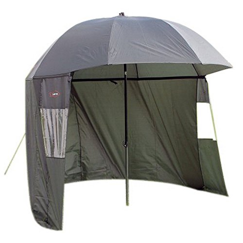Ultra Fishing Angling 2.2m Umbrella Shelter w/ Zip Sides Windows Brolly