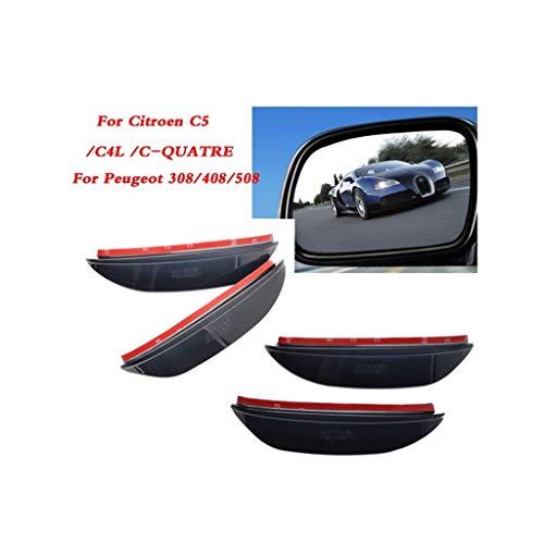 Espejo Retrovisor Lluvia Ceja Compatbile espejo retrovisor del coche etiqueta ceja de la lluvia Accesorios con Peugeot 308/408/508 compatbile con Citroen C5 / X4L / C-Quatre Car Styling Universeel