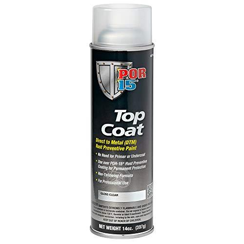 POR-15 45718 Top Coat Gloss Clear Spray Paint, 14. Fluid_Ounces
