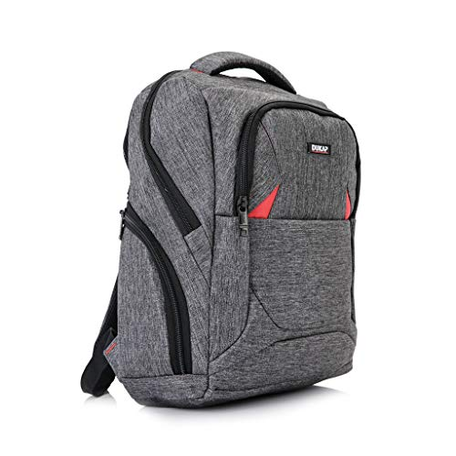 DUKAP Volition 15.6 Inch Executive Laptop Backpack with Durable and Lightweight Fabrics, Travel Bagpack with Anti Theft Pockets and Padded Back, Grey