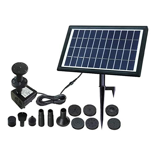 LSHOME Bomba De Fuente Solar Bomba De Agua Solar De 8 Vatios