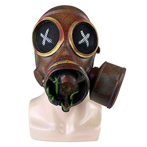 NEWMAN771Her Retro Steampunk Gasmaske Latex Hood Kopfbedeckung Maskerade Halloween Party Requisiten