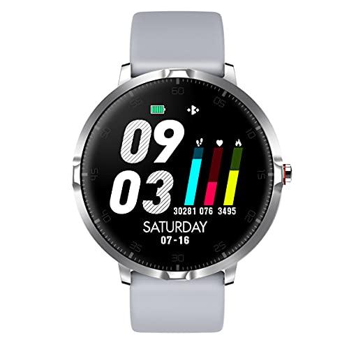 Relojes inteligentes para hombres y mujeres, pantalla táctil completa de 1.3 ', podómetro a prueba de agua IP68, reloj fitness tracker con monitor de sueño, reloj inteligente para teléfonos Android