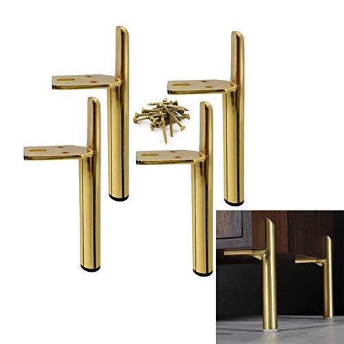 Metalen meubelpoten, moderne stijl salontafel bankvoeten keukentafelpoten badkamermeubel kastvoeten, doe-het-zelf meubelbeslag vervangende onderdelen, 4 stuks (maat: 15cm / 6inch)