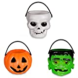 Windy City Novelties Mini Halloween Pumpkin Candy Bowl Holder Decor for Halloween Party (12 Pack)