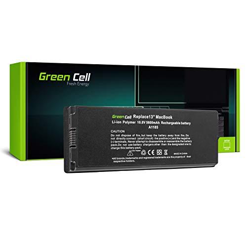 Green Cell, A1185, Batteria per Apple MacBook 13 A1181, 2006-2009 SP - Li-Polymer Zellen 5600 mAh Nero