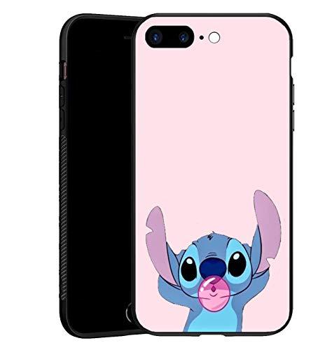 Cover per iPhone 7 Plus/8 Plus, in silicone TPU, colore: nero