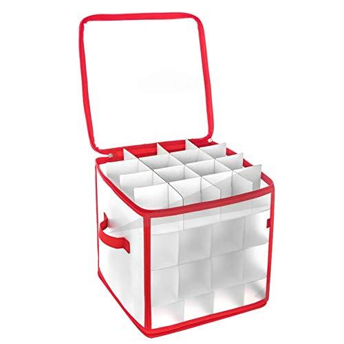 ZKHONG Robuste Aufbewahrungsbox für Weihnachtsschmuck, Organizer-Tasche mit Griffen - Bewahren Sie bis zu 64 Standard-Weihnachtskugeln Und Weihnachtsdekoration Sicher auf