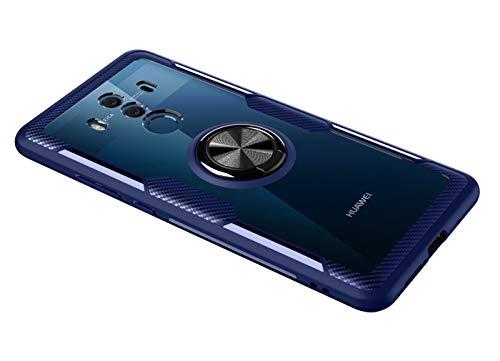 SORAKA Cover Trasparente per Huawei Mate 10 Pro con Supporto dell'anello,Custodia Trasparente Compatibile con Supporto Auto Smartphone Magnetico,Hard PC + TPU Morbido Cover