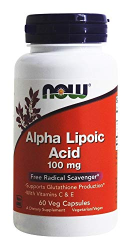 NOW Foods Alpha Lipoic Acid with Vitamins C & E, 100mg, 60 vcaps
