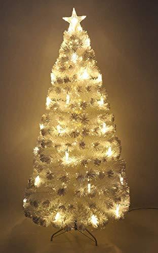 Christmas Concepts® - 72'' (1,8 mètres) Arbre de Noël Photographique irisé à Fibre Optique de 6 Pieds avec lumières Del Blanc Chaud