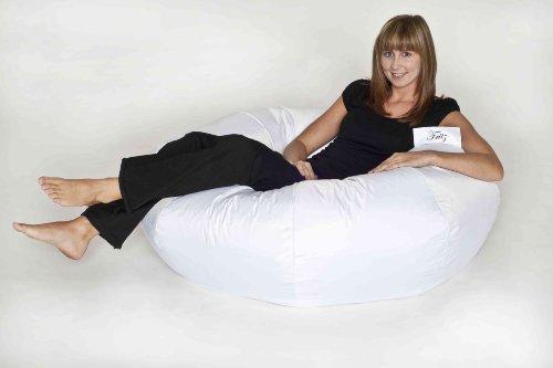 IHP Fritz Sitzsack 'Donut', befüllt, Indoor/Outdoor, Durchmesser 110 cm, Farbe Weiss