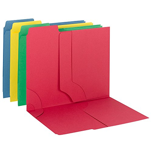 Smead 3-in-1 SuperTab Section Folder, 1/3-Cut Oversized Tab, Letter Size, Assorted Colors, 12 per Pack (11905)