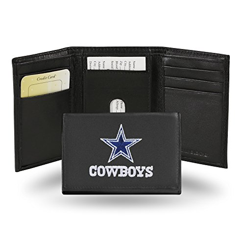 NFL Rico Industries Embroidered Leather Trifold Wallet, Dallas Cowboys
