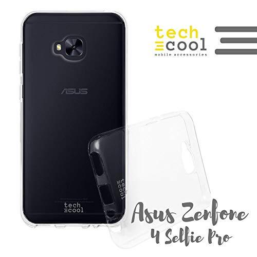 Techcool® Funda Silicona Transparente para ASUS Zenfone 4 Selfie Pro ZD552KL [Gel Silicona Flexible [Ultra Slim 1,5 mm - Gran Resistencia] [Acabado Brillo con Tratamiento Anti-Huellas y Manchas]