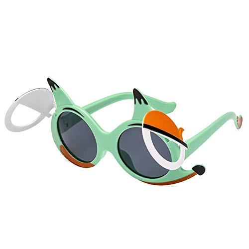 Outdoor Sonnencreme Sonnenbrille Kinder Sonnenbrille Cartoon Little Fox Kinder Sonnenbrille niedlichen Polarisator Jungen und Mädchen Flip Visier Spiegel-4