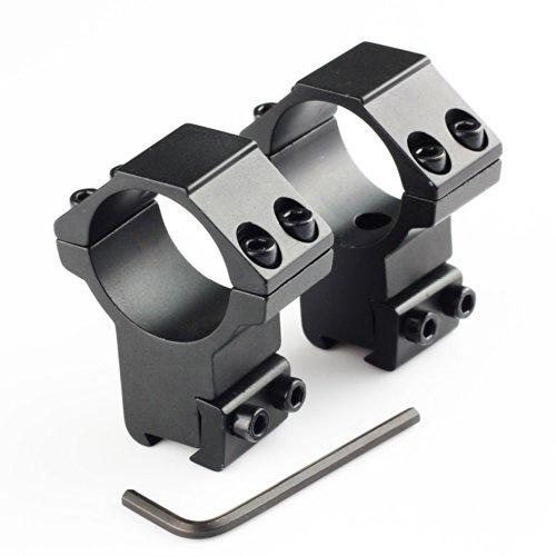 VERY100 Stück Montage Ring 30mm Durchmesserauf 11mm Picatinny/Weaver Schiene, 22mm Sattelhöhe,