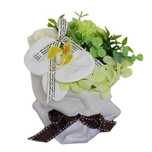 スタンディングミニブーケ グリーン系 花束 バラ カーネーション お祝い 枯れない花 シャボンフラワー ソープフラワー フレグランスフラワー 石けん素材 誕生日 卒業祝い 入学祝い 退職祝い 母の日 父の日 サマーギフト お中元 お歳暮