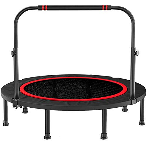 YY-JJ 40/48 Inches Double Armrest Trampoline Gym Home Children Indoor Bouncing Bed Outdoor Rubbing Bed Adult Sports Weight Loss Jumping Bed,fitness trampoline (Size : 48Inches)
