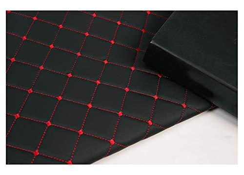 Cuero de imitación Tela Cuero sintético Paño de cuero Material de Tela de grano de cuero de imitación material texturizado por tapizar, Manualidades Cojines o forrar Objetos-Cuadrado negro 1.43x3m