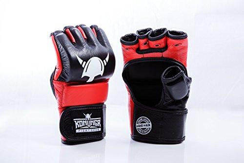 Essentielle MMA Handschuhe für Sparring-Training – handgefertigt, aus hochwertigem Rindsleder Mixed Martial Arts Grappling ideal Boxsack zu Hause oder Käfigkampf perfekt Männer