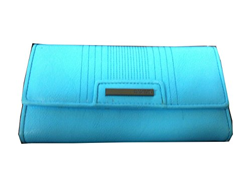 Kenneth Cole Reaction Light Blue Trifold Flap Clutch