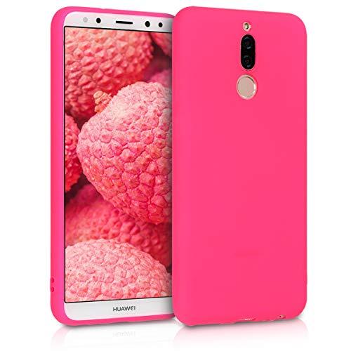 kwmobile Funda Compatible con Huawei Mate 10 Lite - Carcasa de TPU Silicona - Protector Trasero en Rosa neón