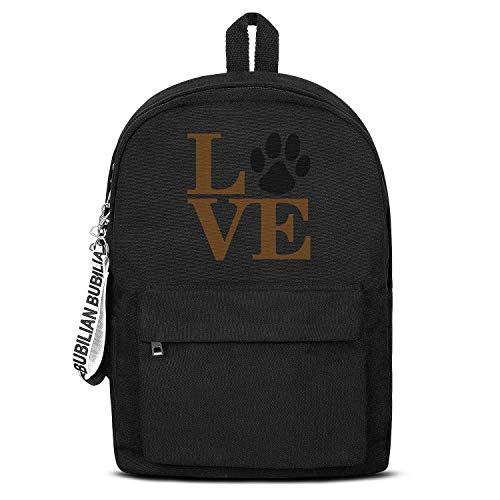Animal Lover Dog Paw Print Love Dogs My Best Friend Backpack Fashion Packable Canvas Rucksack College Student for Men Women or Kids