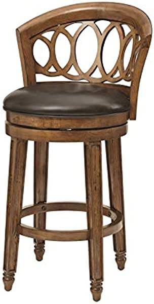 Hillsdale Adelyn Swivel Counter Height Stool In Brown Cherry