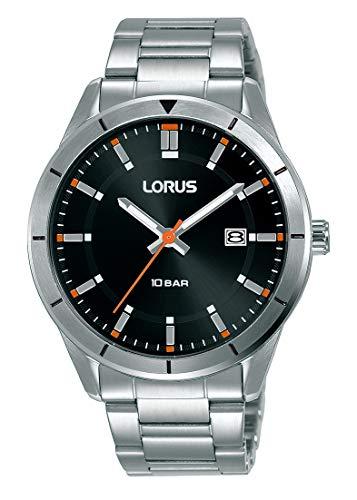 Lorus Sport Herren-Uhr Edelstahl mit Metallband RH997LX9