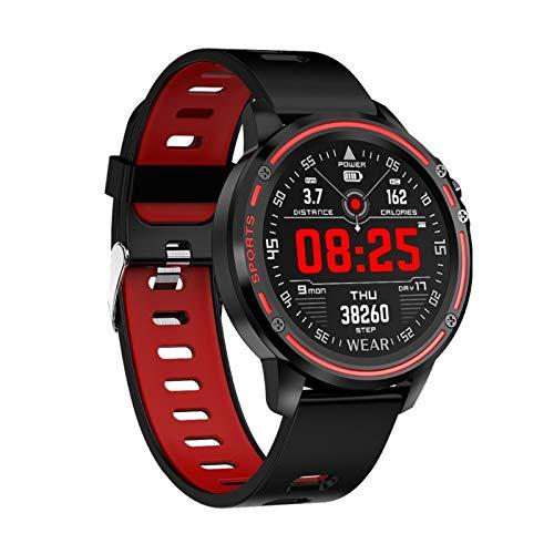 LYB para ULEFONE Armor 6E 6S 6 3 3 WT 5S X6 X6 X3 X5 S11 Note 7p Armadura 7 Smart Watch Hombres Presión Arterial Ratio Cardíaco Deportes Fitness Relojes (Color : Red)