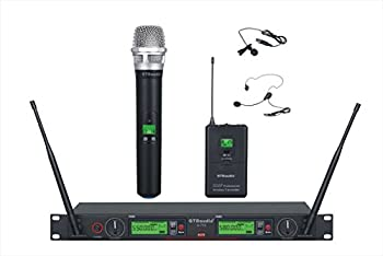 GTD Audio 2x800 Channel UHF Diversity Wireless Hand-held/Lavaliere/Headset Microphone Mic System  1 Hand held & 1 Lavaliere Mic  733HL