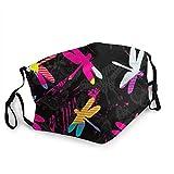 fuyon Unisex Libellen, Sprühfarbe 15 cm * 20 cm Mundabdeckung Gesichtsabdeckung Polyester Anti-Staub-Abdeckung