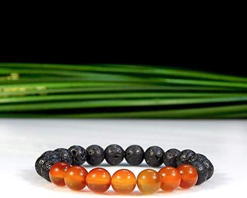 Carnelian and Lava Rock Bracelet Diffuser Oil Br Large discharge sale Energy Shipping included