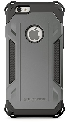 BUDDIBOX iPhone 6s Case, [Corner Series] – Heavy Duty Protection from Falls – Also Compatible with Apple iPhone 6 – [Grey]