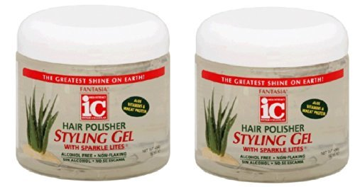 Price comparison product image Fantasia High Potency IC Hair Polisher Styling Gel,  with Sparkle Lites,  16 oz (Pack of 2)