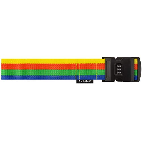 Luggage Strap with Combination Lock (180cm x 5cm) - (Pack of 2 - Striped)