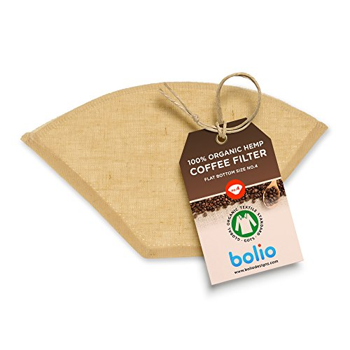 Bolio Organic Hemp Cone Coffee Filter – Reusable and Great for Making Smooth pour...