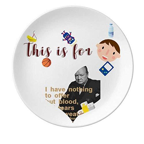 Churchill Prato de porcelana do Primeiro Ministro britânico Jantar redondo Prato Menino Homem